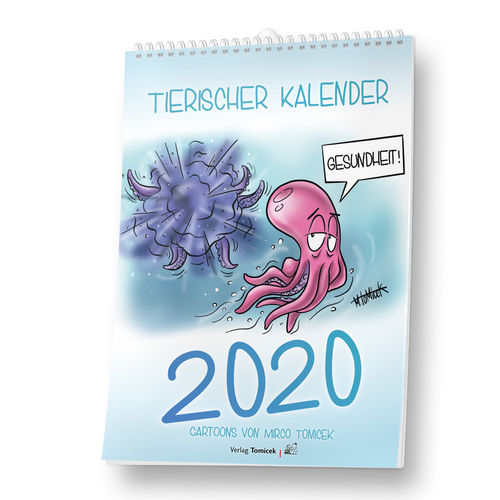 Cartoon-Kalender Tiere 2020