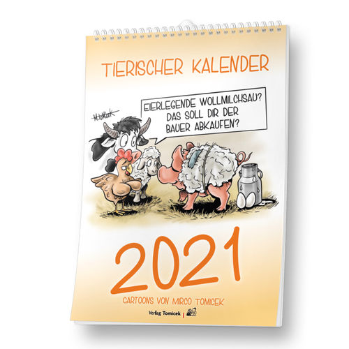 Cartoon-Kalender Tiere 2021