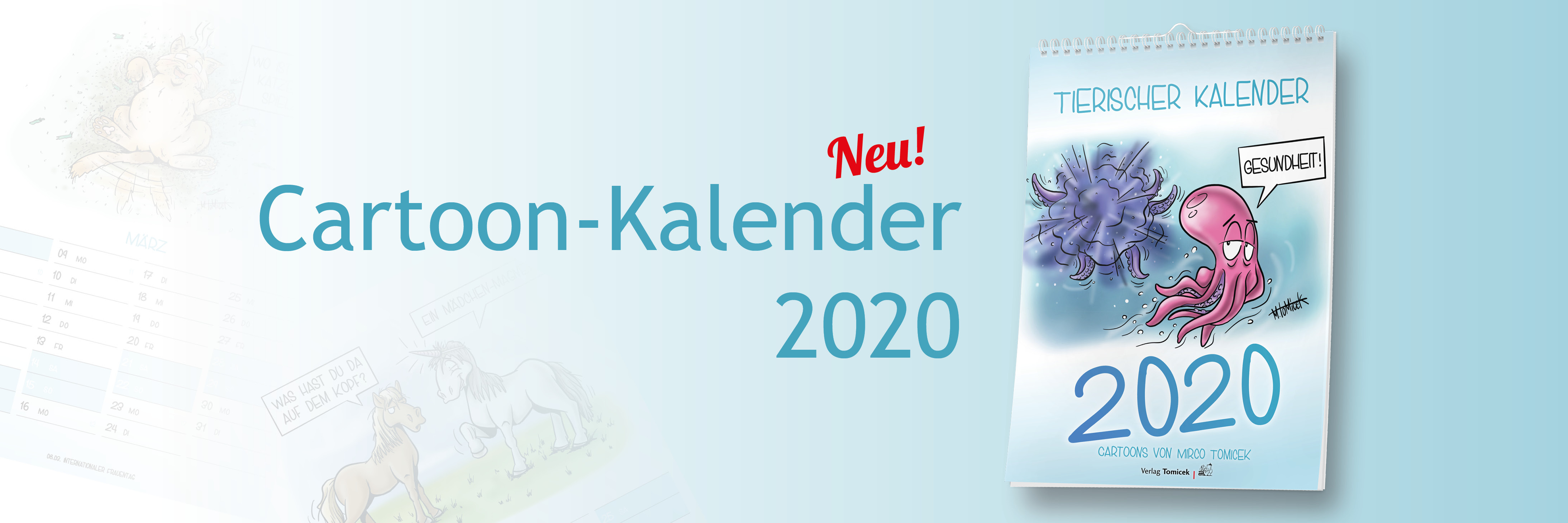 Cartoon-Kalender 2020